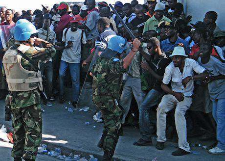 UN Peacekeepers, Haiti. Demotix/Tommy Trenchard. All rights reserved.