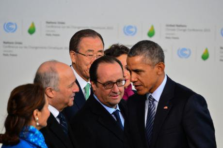 Delegates gathering on the first day of the COP21 Climate conference in Paris.