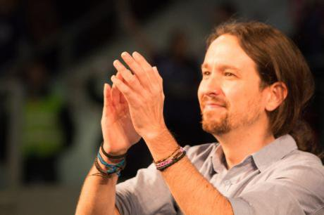 Pablo Iglesias in Madrid Caja Magica, December 13, 2015