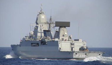 German Navy Ship FGS Hamburg