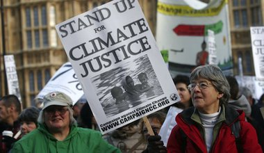 Climate change protest in London. Demotix/Bimal Sharma. All rights reserved.