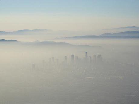 Extreme smog over Los Angeles