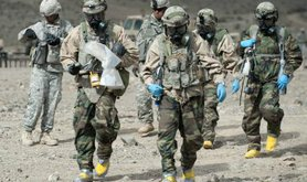 US military unit taking part in WMD exercise