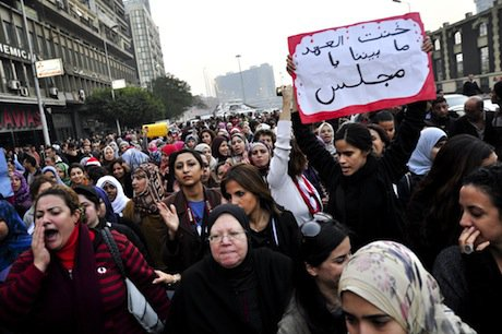 Protest over violence against women in Cairo. Demotix/Marwa Morgan. All rights reserved.