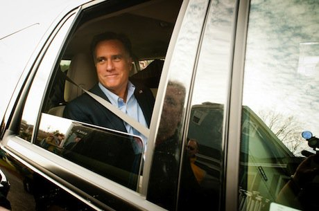 Presidential hopeful Mitt Romney. Demotix/Michael Seamans. All rights reserved.