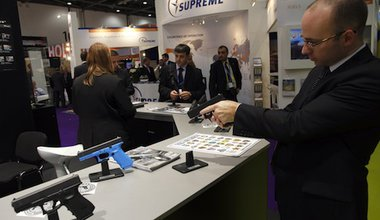 At the 2011 DSEi fair. Demotix/Julio Etchart. All rights reserved.