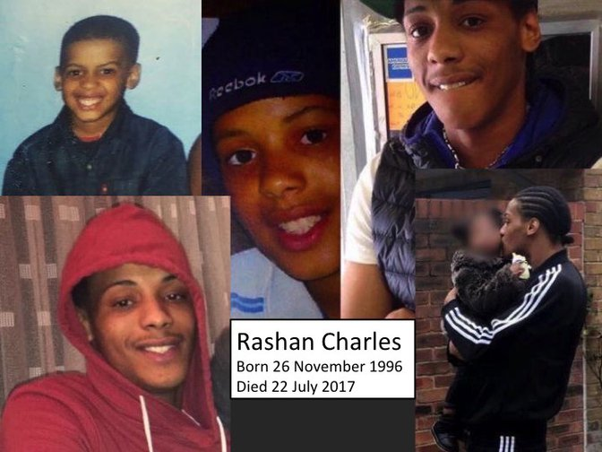 Family photos of Rashan Charles.