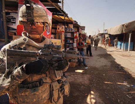 A sergeant provides security. Timothy Kingston:Flickr. Some rights reserved.jpg