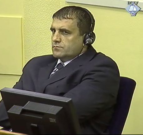 Milan Lukic in the dock, on trial