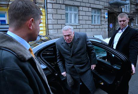 Activist threw some sauerkraut at Zhirinovsky in Kyiv.jpg