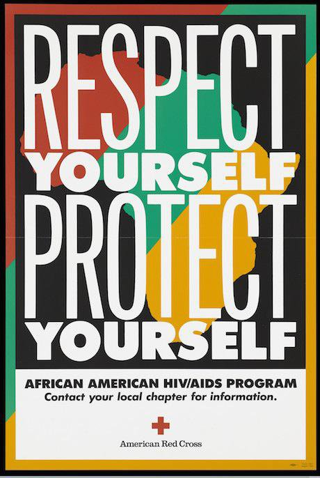 Advertisement for the African American HIV/AIDS programme, American Red Cross. Wellcome images/Flickr. Some rights reserved.