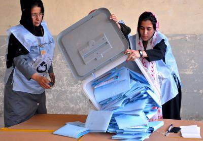 Afghanistan elections poll workers .jpg