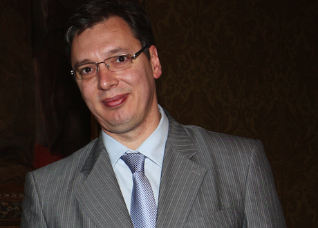 Aleksander Vucic in March 2013. F&C Office:Flickr. Some rights reserved..png