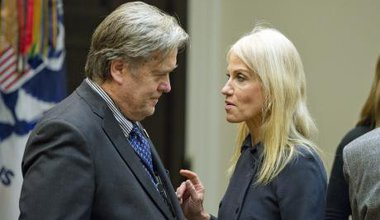 Steve Bannon and Kellyanne Conway.