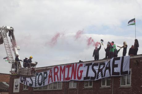 London Palestine Action protest Elbit Systems