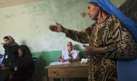 Afghan women vote in the 2009 presidential and parliamentary elections in Mazar-i Sharif, Afghanistan. Cavan Images / Alamy Stock Photo. All rights reserved