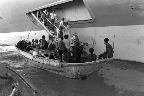 Vietnamese boat people in 1982.