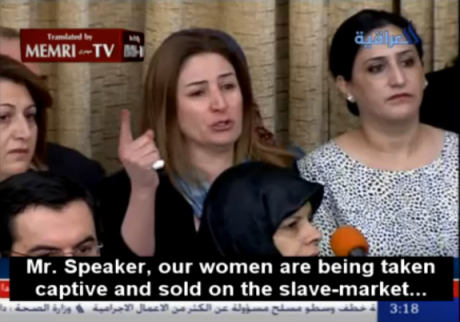 Vian Dakhil speaking in Parliament
