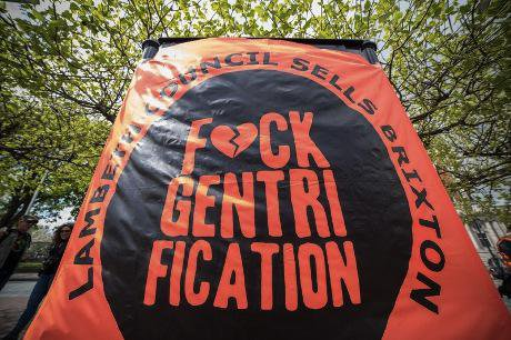 Banner at 'Reclaim Brixton' protest. Demotix/Guy Corbishley. All rights reserved.