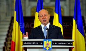 Romania's most wanted man? President Traian Basescu. Demotix/georgecalin. All rights reserved.