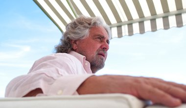 Comedian-turned-civil activist Beppe Grillo. Demotix/Luca Faccio. All rights reserved.
