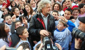 Beppe Grillo in the streets of Genoa - maudanros / Shutterstock.com