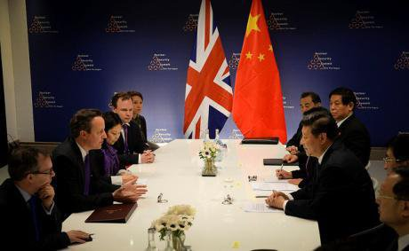 Bilateral meeting between the Prime Minister of the UK and the President of China. Number 10/Flickr. Some rights reserved.