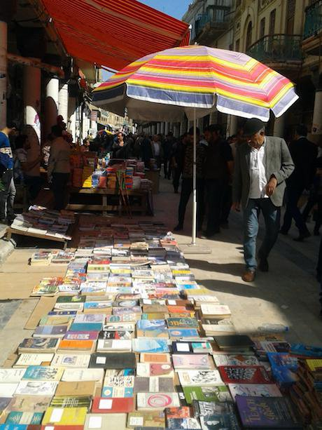 Book sale on Mutannabi Street. Ali Ali. All rights reserved.
