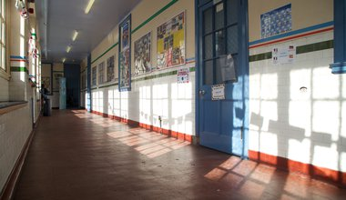 Boroughmuir_High_School_-_interior,_view_of_corridor.jpg