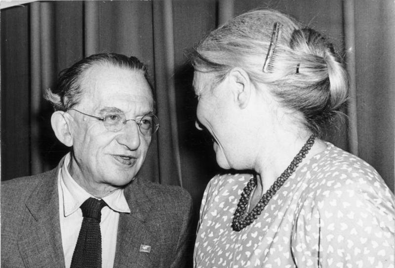 György Lukács with Anna Seghers in Berlin, July, 1952.