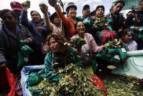 Coca leaf producers, Bolivia, 2013. PA Images / Juan Karita. All rights reserved.
