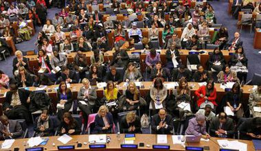 Delegates at the 59th CSW in 2015.
