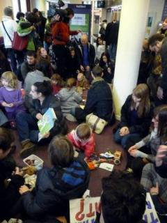 A UKUncut occupation against closures of SureStart centres.
