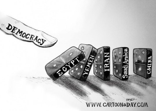 Democracy Dominoes/Bryant Arnold/CartoonADay.com