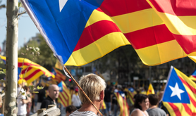 A Catalan independence march. Wikimedia commons/Ian McClellan. Public domain.