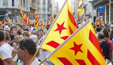 Catalan independence rally on Catalan National Day. Roger De Marfa:Demotix. All rights reserved.jpg
