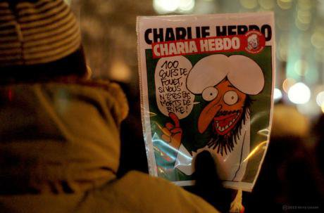 Charlie Hebdo edition, held in Montreal. Gerry Lauzon:Flickr. Some rights reserved.jpg
