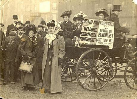 Copy of Christabel Pankhurst in Manchester_ UK_ 19 January 1909. Image_ Wikimedia Commons.jpg