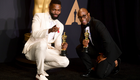 Writer Tarell Alvin McCraney (left) and director Barry Jenkins with their Oscars for 'Moonlight' at the 2017 Academy Awards | Ian West/PA Archive/PA Images
