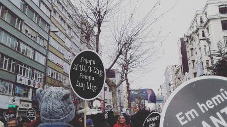 19 January, 2016 in Istanbul, where the commemoration gathers. Author's photo.