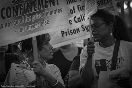 Daletha Hayden at a rally against the use of solidarity confinement. Photo provided by Daletha Hayden.