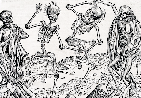Danse Macabre, Michael Wolgemut, 1493. Wikimedia Commons/Public domain. Some rights reserved.