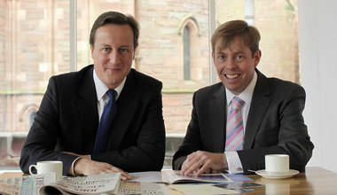 David Cameron and Richard Cook
