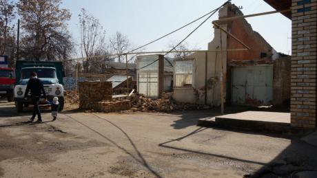 The destruction of the Sidorchuks' building. Source: Nazim Sidorchuk.