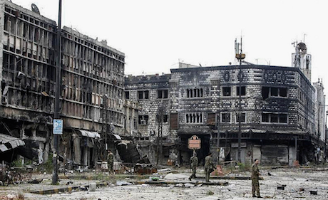 Destruction in Homs, Syria. Khaled al Hariri/Flickr. Some rights reserved.