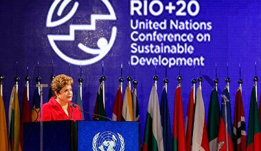 Dilma Rousseff at the Rio + 20 UN conference on sustainable development.