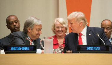 Donald Trump and António Guterres at the United Nations General Assembly .Official White House Photo by Shealah Craighead. Public Domain._0.jpg