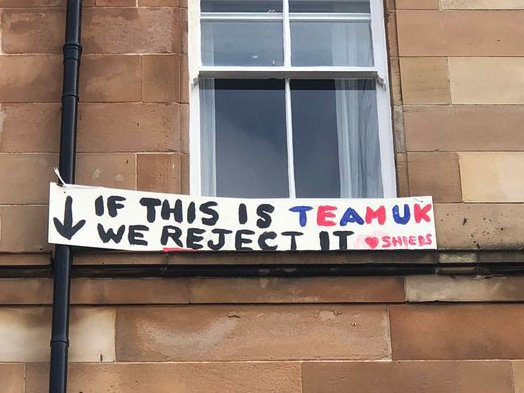 A banner reads 'If this is Team UK we reject it'