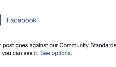 Facebook takedown notice