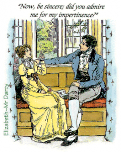 Elizabeth and Darcy in the C.E Brock illustration for 1895 edition of Pride and Prejudice